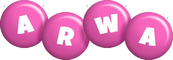 Arwa candy-pink logo
