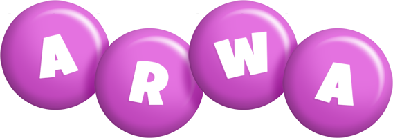 Arwa candy-purple logo