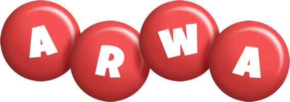 Arwa candy-red logo