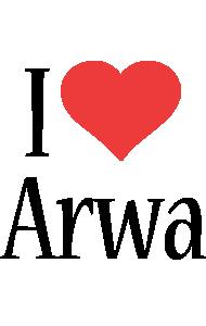 Arwa i-love logo