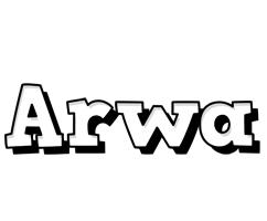 Arwa snowing logo