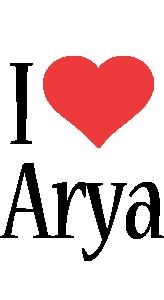 Arya i-love logo