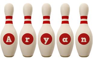 Aryan bowling-pin logo