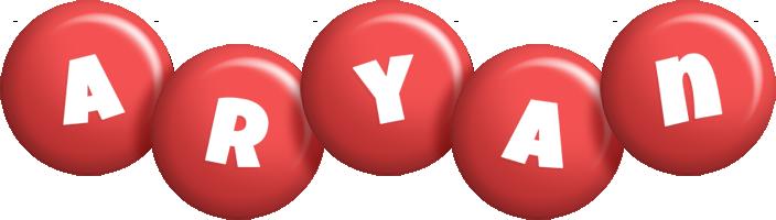 Aryan candy-red logo