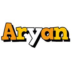 Aryan cartoon logo