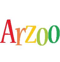 Arzoo birthday logo