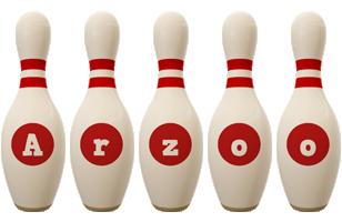 Arzoo bowling-pin logo