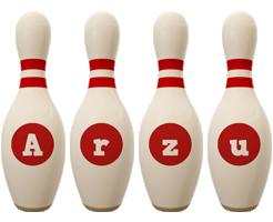 Arzu bowling-pin logo