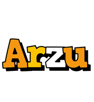 Arzu cartoon logo