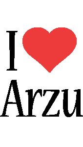 Arzu i-love logo