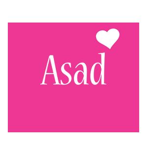 Asad love-heart logo
