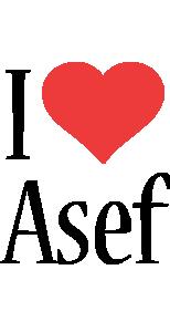 Asef i-love logo