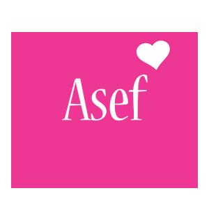 Asef love-heart logo