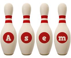 Asem bowling-pin logo