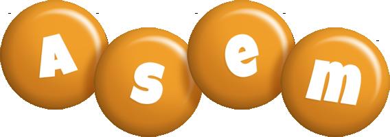Asem candy-orange logo
