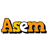 Asem cartoon logo