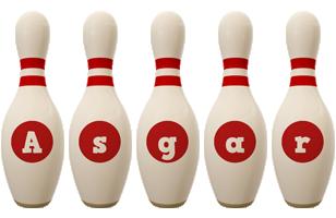 Asgar bowling-pin logo