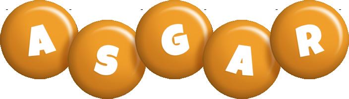 Asgar candy-orange logo