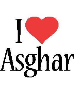 Asghar i-love logo