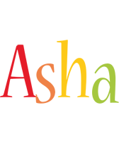 Asha birthday logo