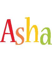 Asha birthday logo
