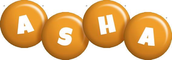 Asha candy-orange logo