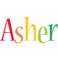 Asher birthday logo