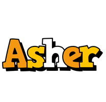 Asher cartoon logo