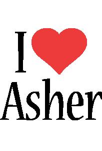 Asher i-love logo