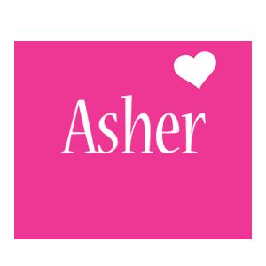 Asher love-heart logo