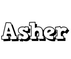 Asher snowing logo