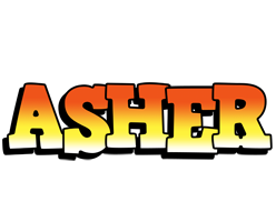 Asher sunset logo