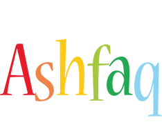 Ashfaq birthday logo