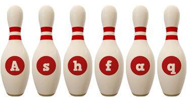Ashfaq bowling-pin logo