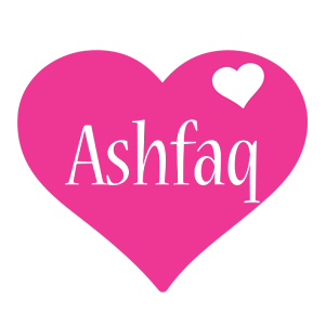 Ashfaq love-heart logo