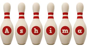 Ashima bowling-pin logo