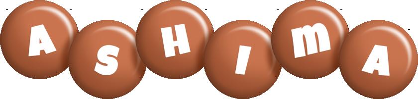 Ashima candy-brown logo