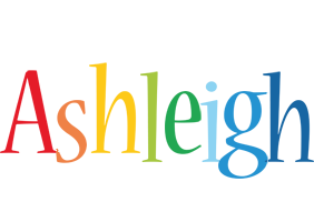 Ashleigh birthday logo