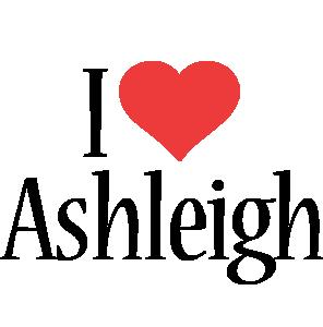 Ashleigh i-love logo