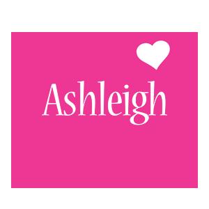 Ashleigh love-heart logo
