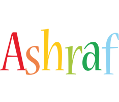 Ashraf birthday logo