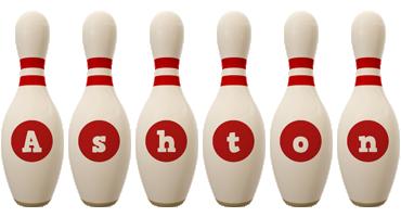 Ashton bowling-pin logo
