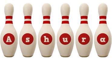 Ashura bowling-pin logo