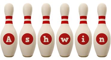 Ashwin bowling-pin logo