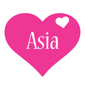 Asia love-heart logo