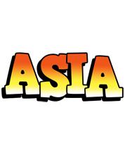 Asia sunset logo