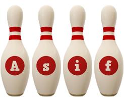 Asif bowling-pin logo