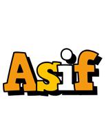 Asif cartoon logo