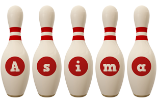 Asima bowling-pin logo