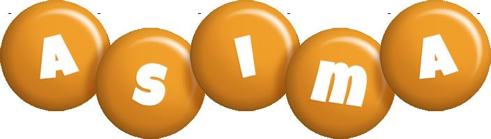 Asima candy-orange logo
